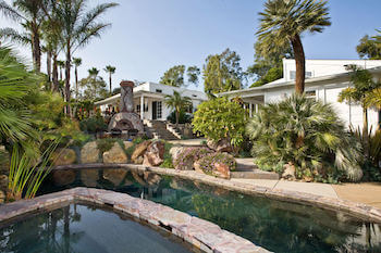 picture of residential landscape with pool in North County